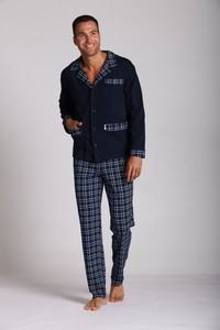 Carlo pajamas men's long rękaw, 538, De Lafense