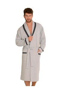 Bruno bathrobe male with collar M-2XL, 564, De Lafense