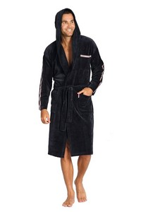 Bathrobe lampas male with hood M-2XL, 425, De Lafense