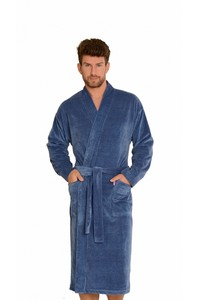 Enrico bathrobe men's with plisą M-2XL, 591, De Lafense