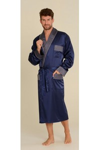 Bathrobe male satin with collar, 940, De Lafense