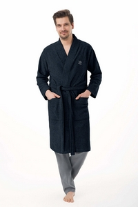 Bathrobe luna 850 dł/r 3xl męski lingerie męska / szlafroki - all