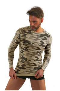 T-shirt men's thermoactywna military style long rękaw, P1034, Sesto Senso