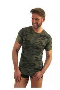 T-shirt men's military style short sleeve M-XL, P1035, Sesto Senso